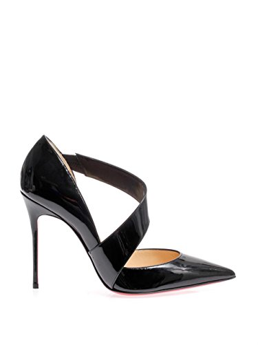 outlet store 75f11 36680 Christian Louboutin Ograde 100 Black Patent Pump Women Pigalle Kate Shoes