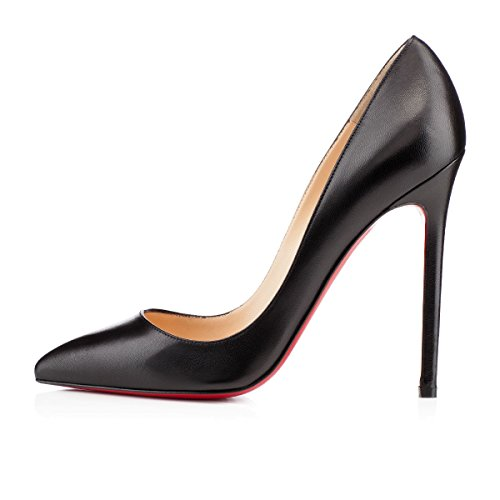 Christian Louboutin Pigalle 120 Black Leather Heels So Kate Pumps Shoes